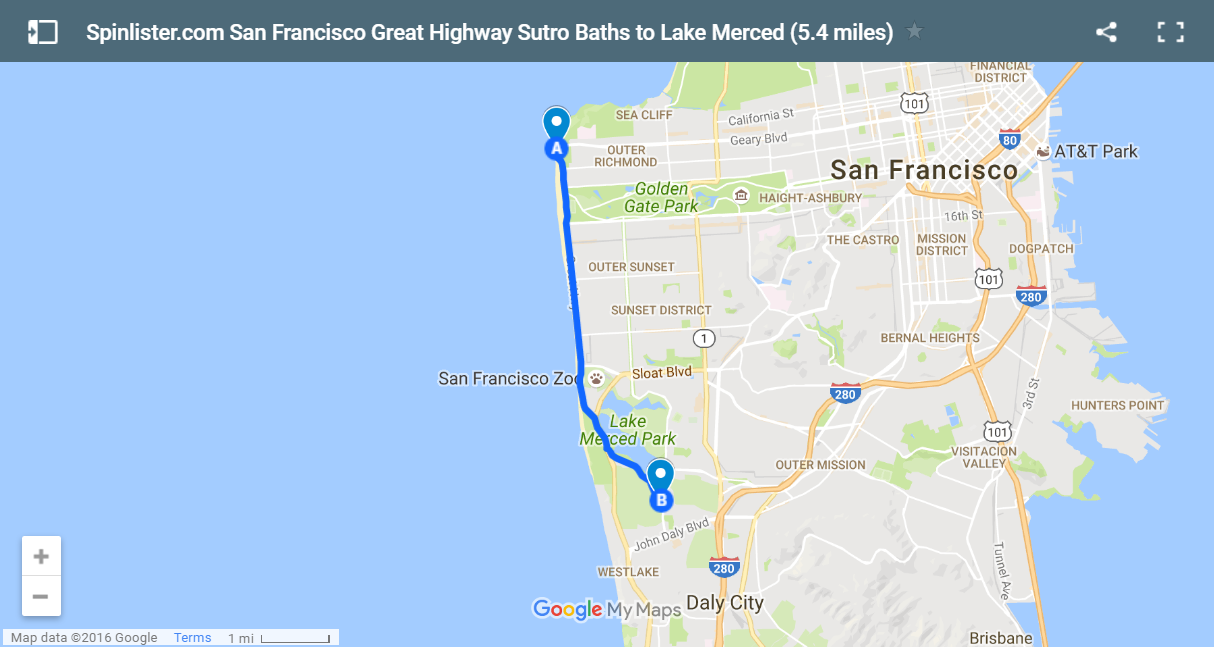 San Francisco Bike Map Spinlisters Top 10 Bike Routes In SF