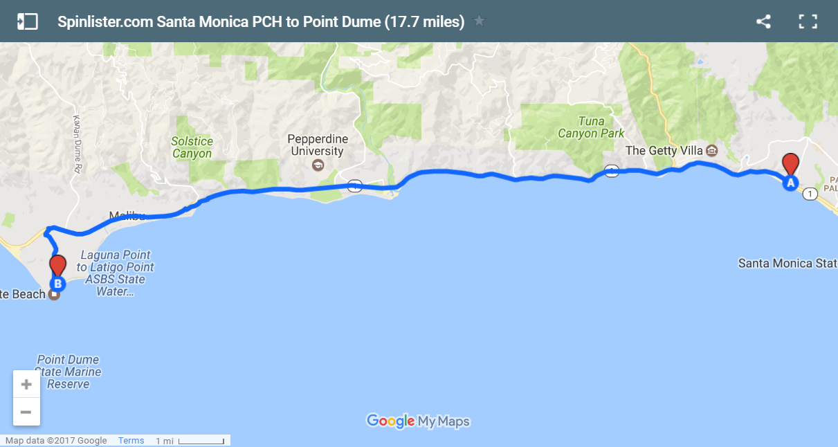 12 Santa Monica PCH to Point Dume Map