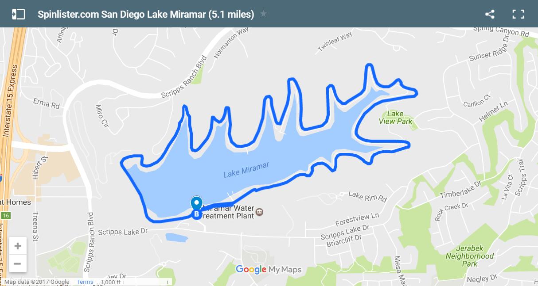 16 San Diego Lake Miramar Map