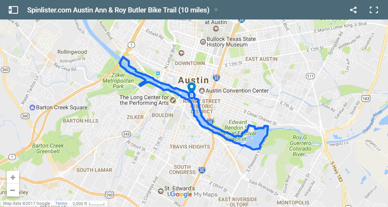 4 Austin Ann And Roy Butler Bike Trail Map