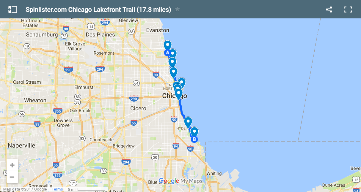 New Year's Cycling 17 Bike Rides You Need To Experience In 2017: Map Of Chicago Lakefront At Infoasik.co
