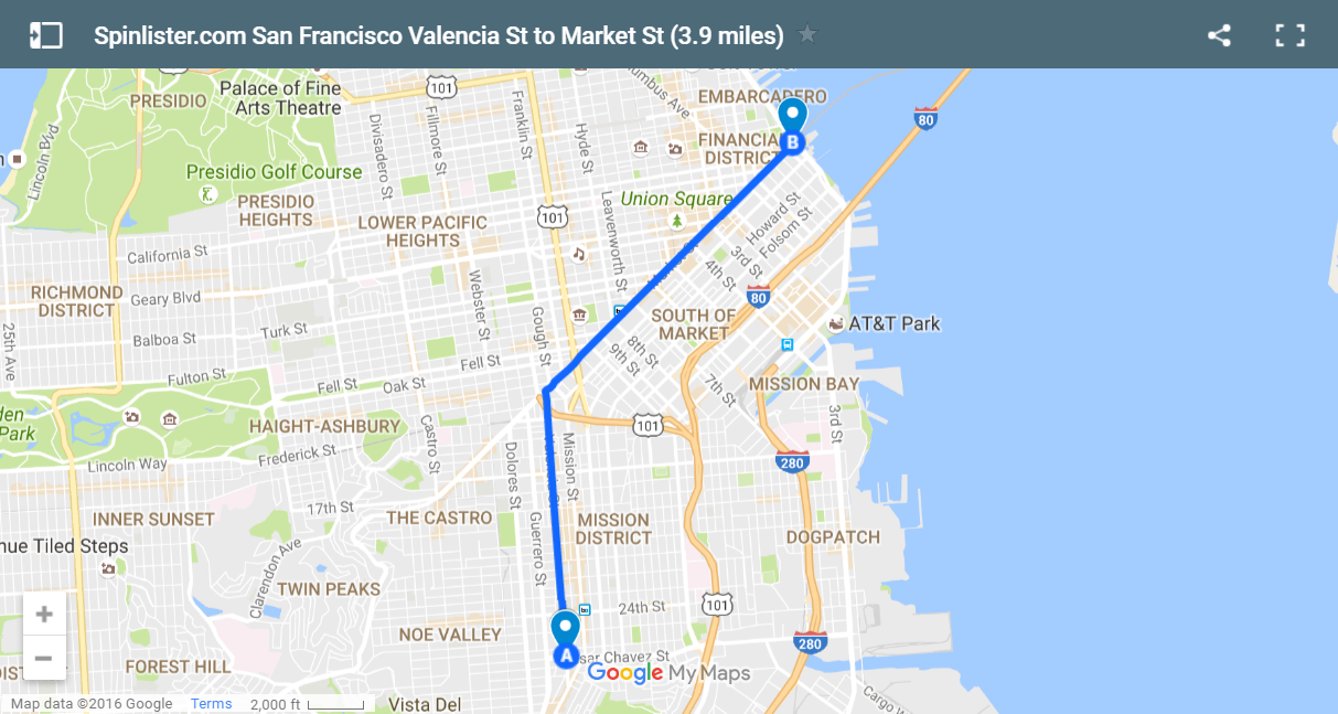 San Francisco Bike Maps Spinlister S Top 10 Bike Routes In Sf