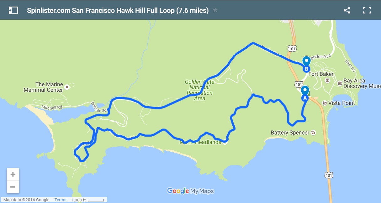 San Francisco Bike Map: Spinlister's Top 10 Bike Routes In SF